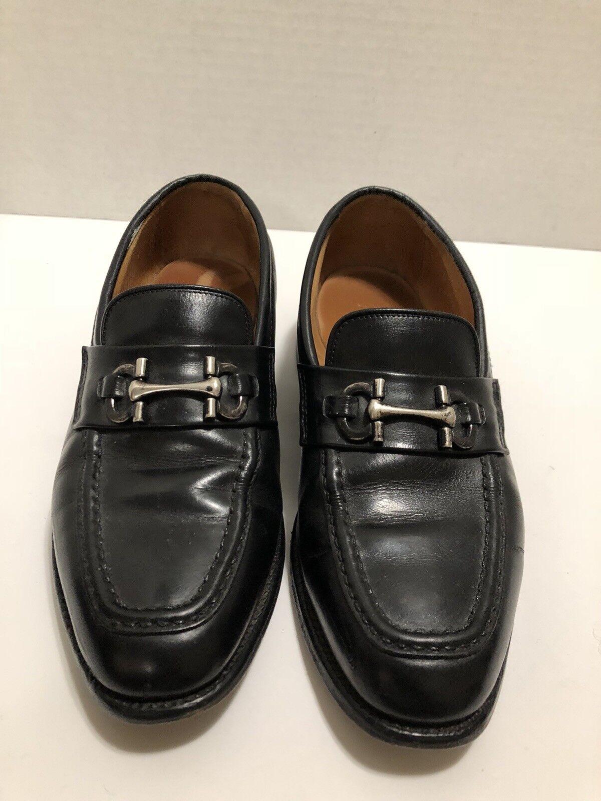 ALLEN EDMONDS Men's 7 EEE Harwood Slip On Black Leather Loafer Horse Bit