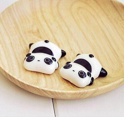 4pc China Ceramic Lovely Panda Chopsticks Rack/plate Rack