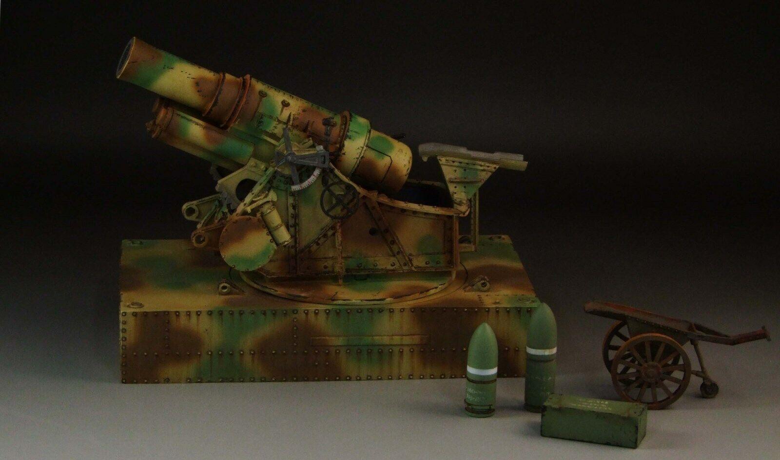 1 30  WW1 and WW2 German SKoda 30,5 cm Howitzer M1916 Camouflage version