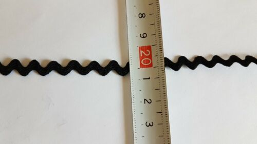 Baumwolle 0,23€//m 7 mm schwarz Borde 5 m Zackenlitze Borte Zick-Zack-Borte 4