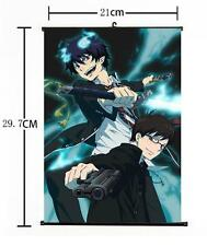 "Hot Japan Anime Ao no Exorcist Rin Yukio Wall Scroll Home Decor Poster 8""×12"" 02"