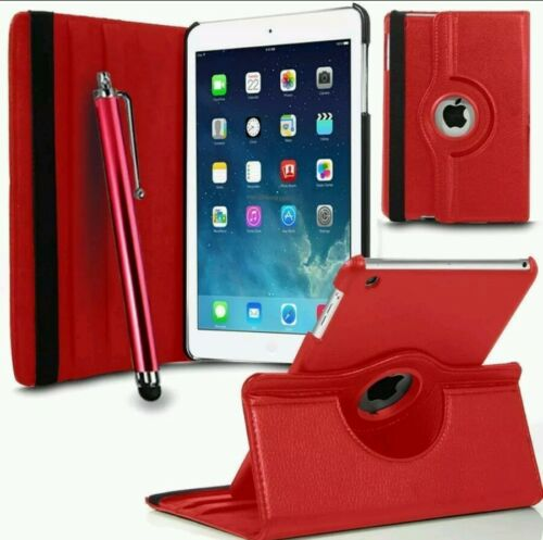 """IN VARIOUS COLORS 2017 LEATHER 360 DEGREE ROTATING CASE COVER FOR I PAD 9.7/"""""""