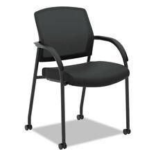 Hon Lota Series Mesh Guest Side Chair Black Fabric Black Base 2285va10 New