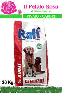 N 3 Sacchi Da 20 Kg Crocchette Cibo Per Cani Ralf Adult Con Manzo
