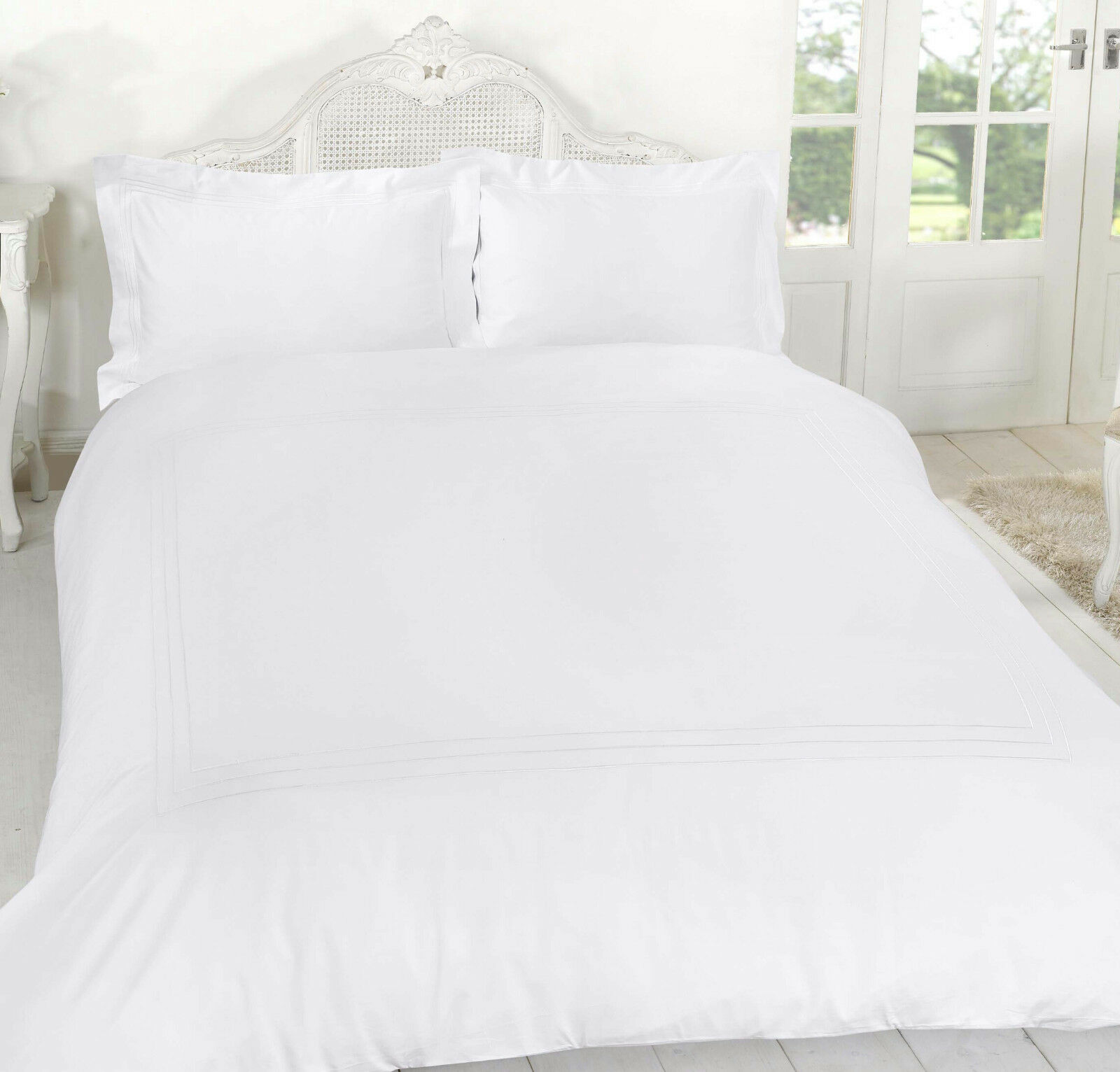 Luxury T400 Thread Count Baratta Stitch Duvet Cover Set with Oxford Pillow Cases