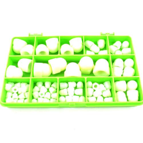 101 Tuercas de cúpula de nylon pieza Surtidos Plástico cúpula Tuerca R//C Modelo Kit de construcción