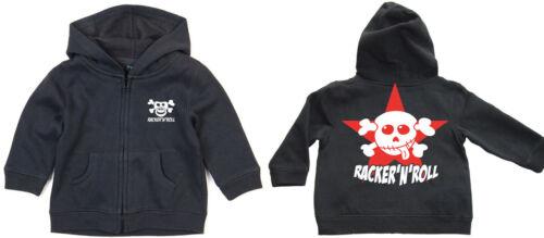 RACKER´N´ROLL ROCKO STAR Schnullerpirat  Zipped Hoodie KAPU-Zip Baby black