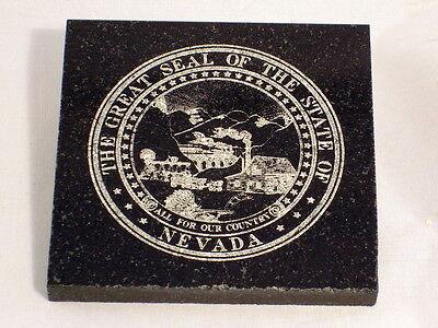 Pennsylvania State Seal Granite Laser Engraved Paperweight