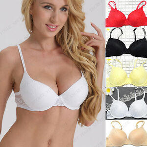 8e384ca2b0 New Women s Push Up Bra Lace Brassiere Bracelet Underwear 32 34 36 ...