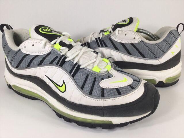 sale usa online cheap for sale good service Nike Air Max 98 Cool Grey Volt Black White Mens Size 12 Rare 640744-002