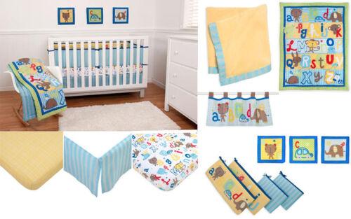 ABC Animal Friends Bear  Nursery Baby Infant Crib Bedding Set N Bumper Pad NEW