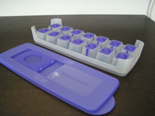 TUPPERWARE G29 Eiswürfel-Behälter Deckel lila NEU !