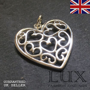 Tibetan Silver Alloy Puffy Solid Heart Charms Love Valentine Jewellery Making