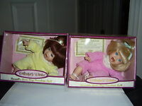 Collector's Choice Poseable Bean Bag Porcelain Doll (2) In Box