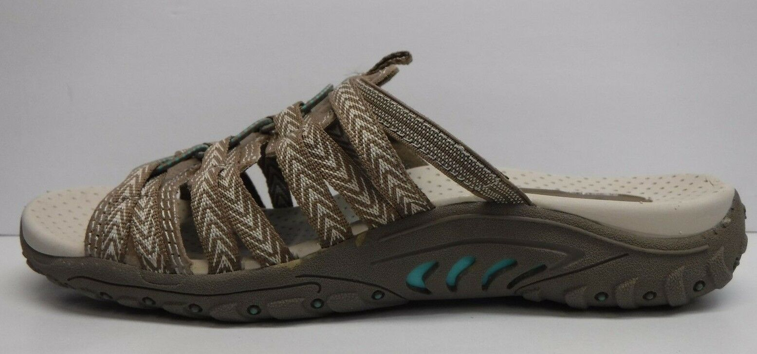 Skechers Size 9 Taupe Leather Sandals New Womens Shoes