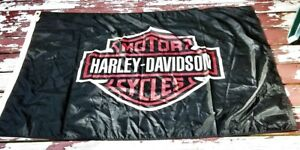 Vintage-Harley-Davidson-Motorcycles-Logo-Flag-Made-in-USA-55-5-034-x-37-034
