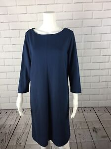 J-Jill-Ponte-Knit-Dress-Shift-Medium-Pockets-M-Stretch-Womens