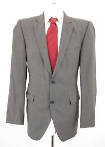 Strellson Anzug Rick-James Super 100's Gr.98 grau uni Einreiher 2-Knopf -C34