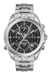 Bulova-Precisionist-Men-039-s-96B260-Quartz-Chronograph-44-5mm-Bracelet-Watch