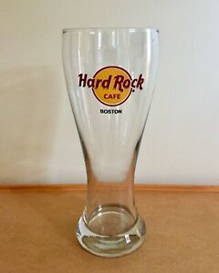 Hard-Rock-Cafe-Boston-Massachusetts-8-5-034-Tall-Pilsner-Beer-Glass-Collectible