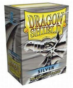 Dragon-Shield-Silver-Card-Sleeve-Protectors-100-Pack-Free-Shipping