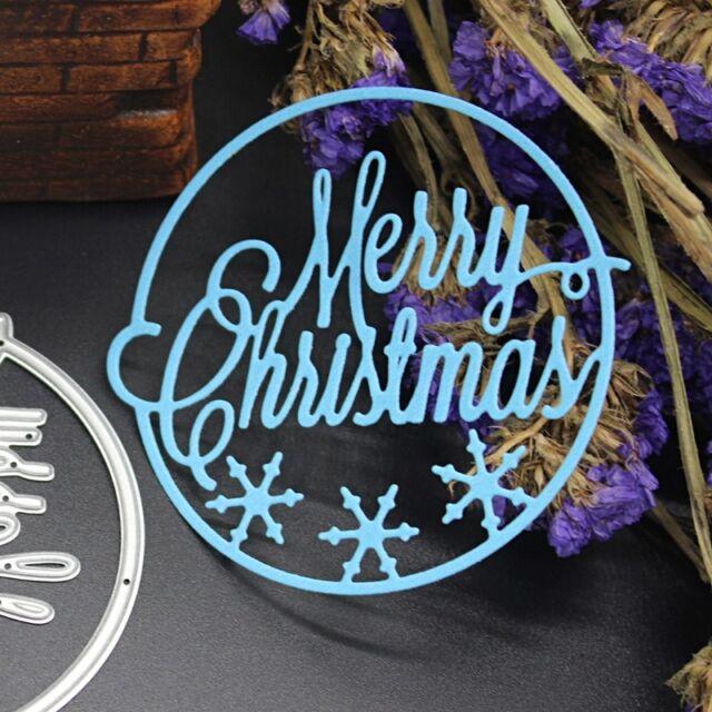 Merry Christmas Cutting Dies Scrapbooking Embossing Album Paper Cards Craft DIY