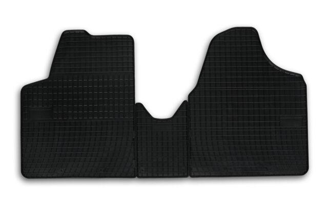 Tapis de sol caoutchouc sur mesure pour Peugeot Expert 2 II 2006-2016 Noir 3 pcs