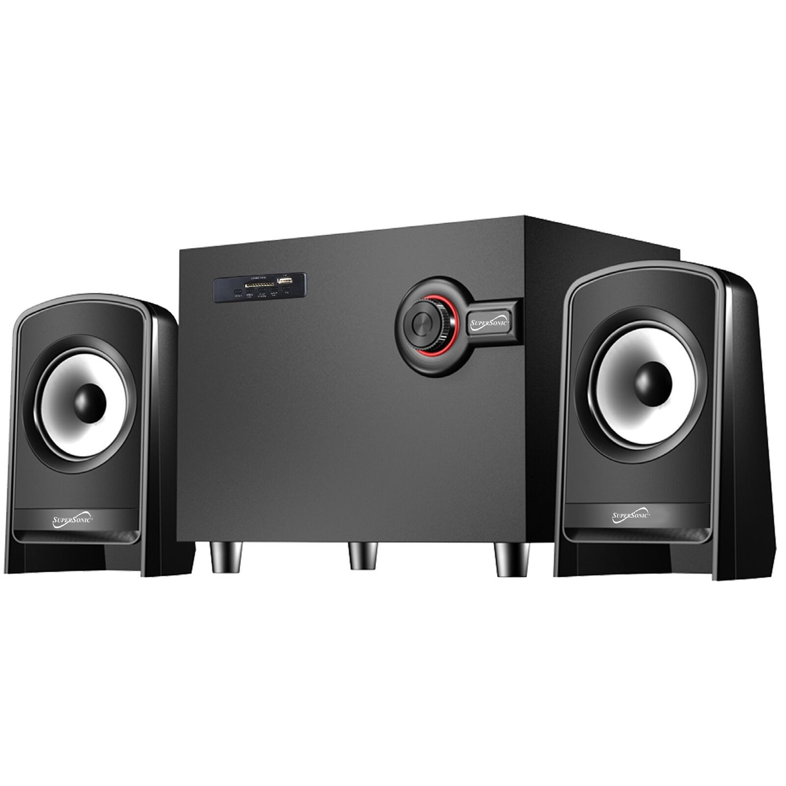 SUPERSONIC blueETOOTH MULTIMEDIA SPEAKER SYSTEM with USB SD AUX INPUT & FM RADIO