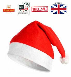 Christmas Hat Xmas Fancy Costume Unisex Santa Claus Eve Key Gift Multipack