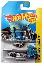 2014 Hot Wheels #105 HW Off-Road Stunt Circuit Fast-Bed Hauler blue