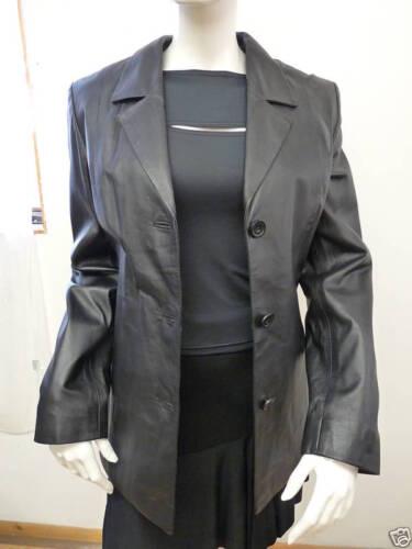 femmes cuir € Blazer noir 8 en pour 99 494 italien Uk par Impero TFJclK1