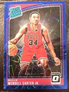 2018-19-Panini-Optic-Wendell-Carter-Jr-Bulls-Rated-Rookie-Blue-Velocity-Prizm