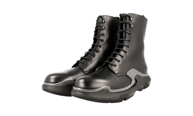 De lujo Prada Runway Half-Zapatos Bota 2WG006 Negro gris Nuevo nos 10