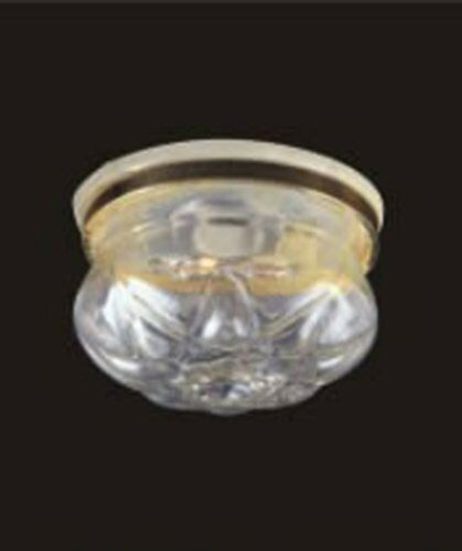 1:12 Scale Working Ceiling Light With A Clear Shade Dolls House Miniature 4011