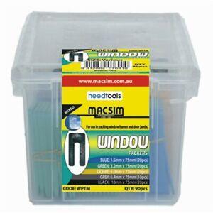 PLASTIC-PACKERS-3-2x75mm-200-Pack-Horse-shoe-Window-Door-frame-Wall-packers