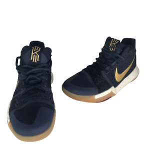 Nike Kyrie 3 Obsidian/Gold Basketball Shoes 852395-400 Men's Size 8