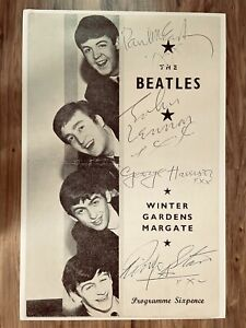 The Beatles A signed concert programme 1963 Poster