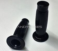 """Pair of Beston Type Cafe Racer Style Handlebar Grips Gel Black 1"""" Handle Bars"""