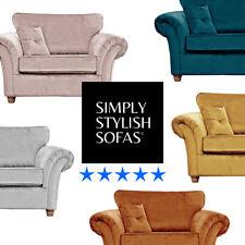 PIMLICO Fabric Cuddle Chair Plush Velvet Loveseat Accent Chair