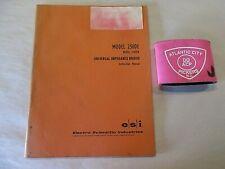 Esi Model 250 De Model 250 Der Universal Impedance Bridge Instruction Manual