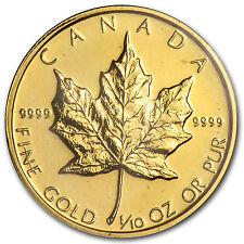 1982 1/10 oz Gold Canadian Maple Leaf - SKU #82702