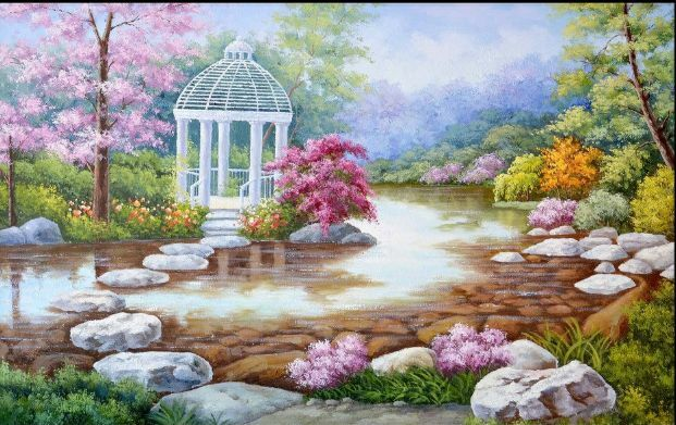 3D Dream Poetic Forest River Wall Paper Wall Print Decal Wall Deco AJ WALLPAPER