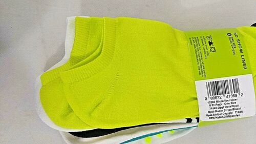 6 Pair HUE no show Socks one Size Fits All New With Tags