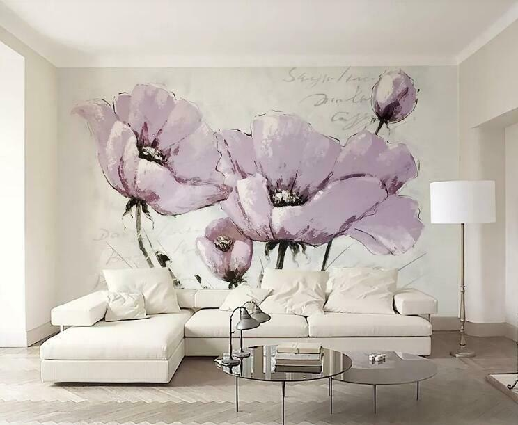 3D Sketches Flowers I835 Wallpaper Mural Sefl-adhesive Removable Sticker Wendy