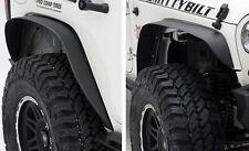 2007-2017 Jeep Wrangler & Unlimited XRC Metal Fender Flares Set of Four in Black