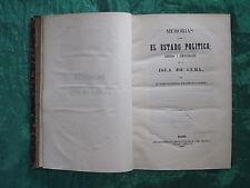 CONCHA : MEMORIAS SOBRE LA ISLA DE CUBA - MADRID 1853