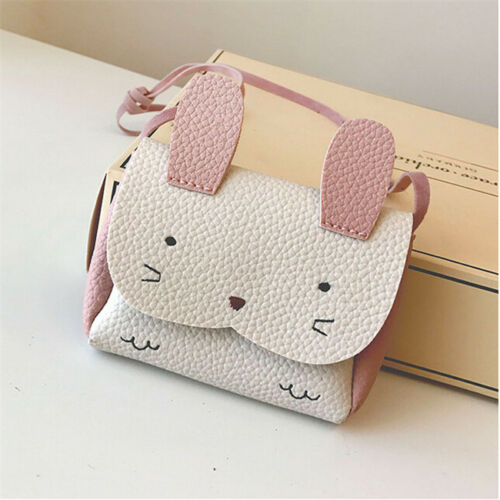 Girl Child Faux Leather Cute Rabbit Design Small Cross-body Shoulder Bag LC