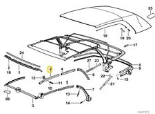 BMW 3 SERIES E36 FOLDING ROOF RAIL FRONT RIGHT DRIVERS SIDE 54318135252
