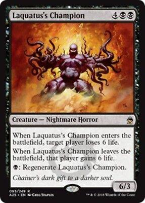 LAQUATUS/'S CHAMPION Torment MTG Black Creature — Nightmare Horror RARE