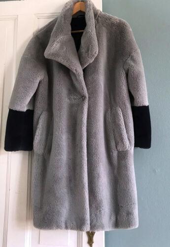 Nuovo Horse da Ganni Np 370 Gr Coat M Tree Garden Fur Fake Splendid qtf7X7
